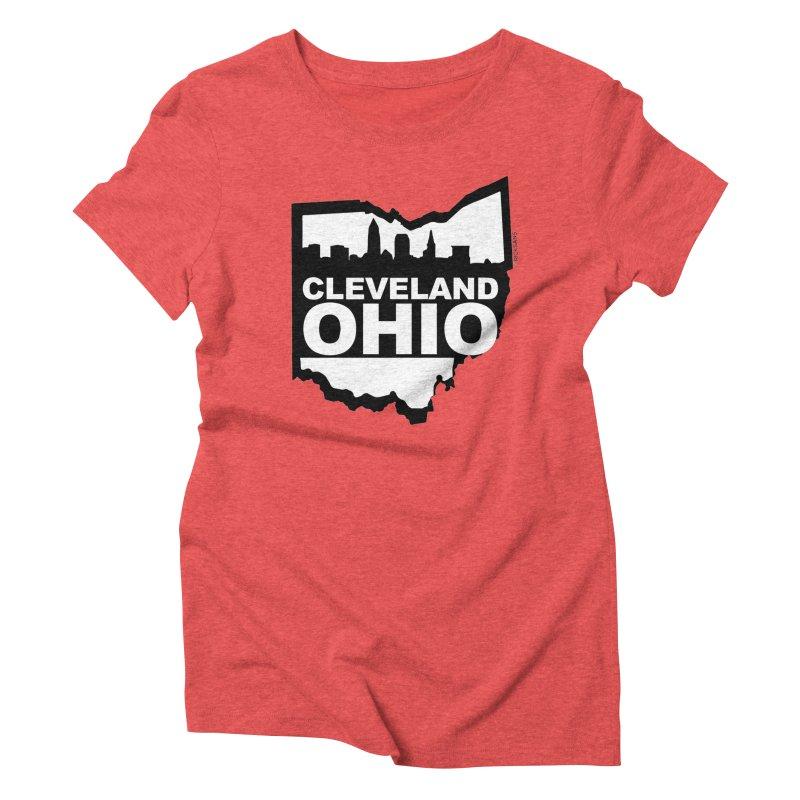 Cleveland Ohio Skyline Women's Triblend T-Shirt by Ricksans's Artist Shop