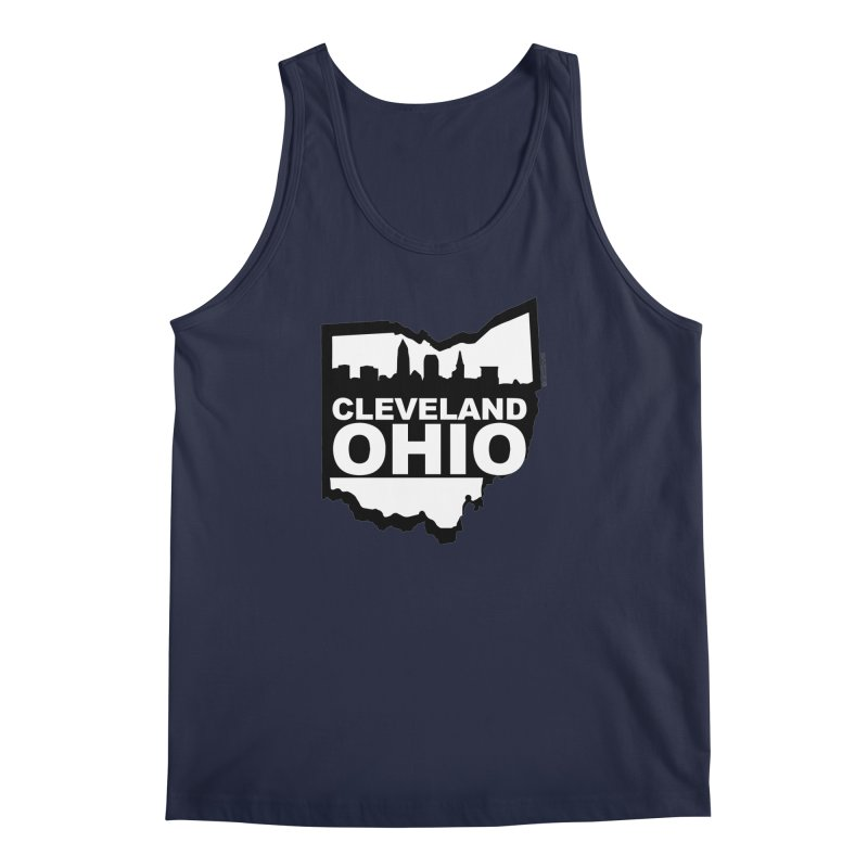 Cleveland Ohio Skyline Men's Regular Tank by Ricksans's Artist Shop