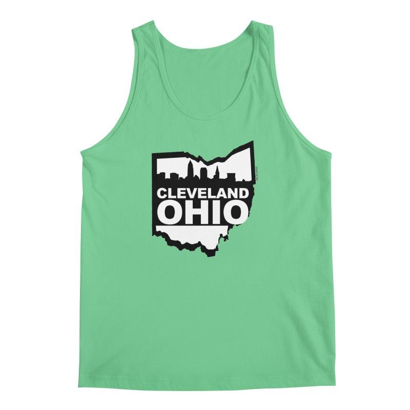 Cleveland Ohio Skyline Men's Tank by Ricksans's Artist Shop