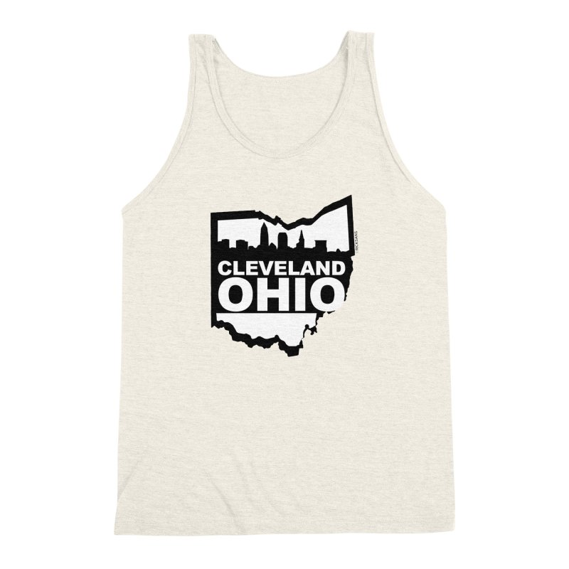 Cleveland Ohio Skyline Men's Triblend Tank by Ricksans's Artist Shop