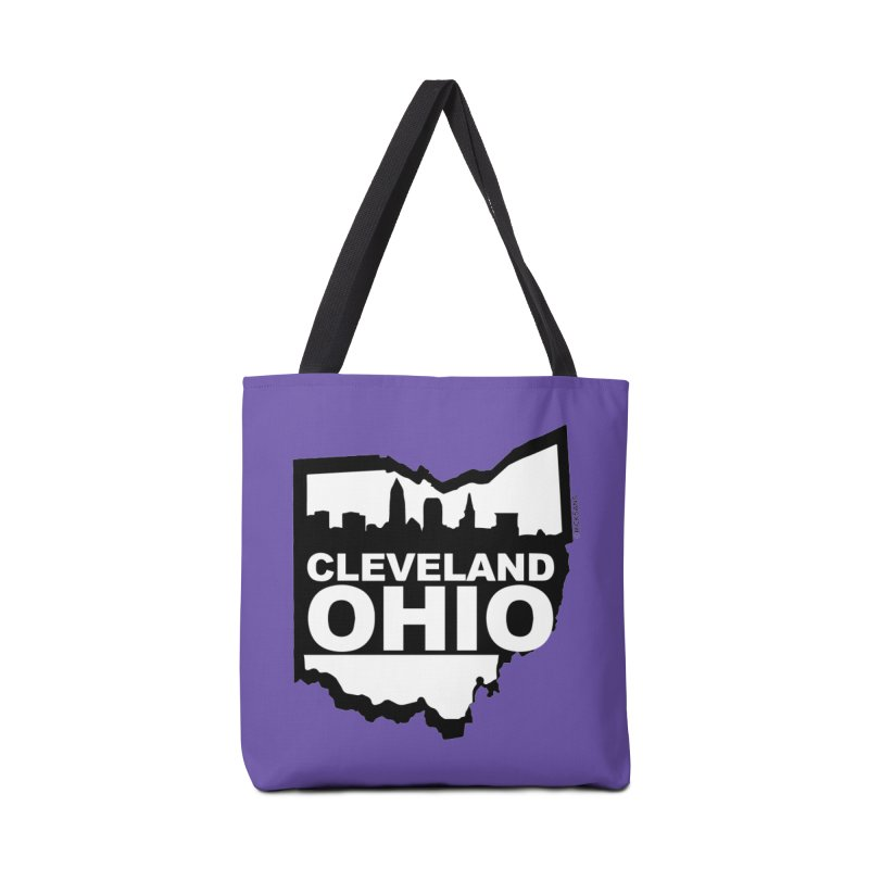 Cleveland Ohio Skyline Accessories Tote Bag Bag by Rick Sans' Artist Shop