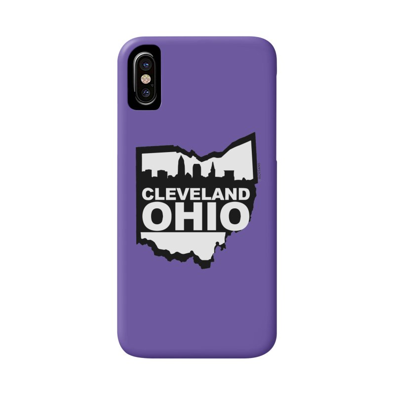 Cleveland Ohio Skyline Accessories Phone Case by Rick Sans' Artist Shop