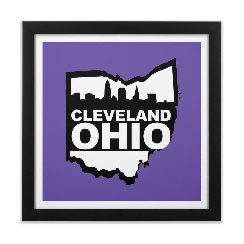 Cleveland Ohio Skyline Home Framed Fine Art Print by Ricksans's Artist Shop