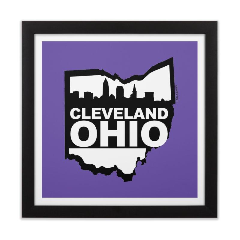 Cleveland Ohio Skyline Home Framed Fine Art Print by Ricksans's Artist Shop