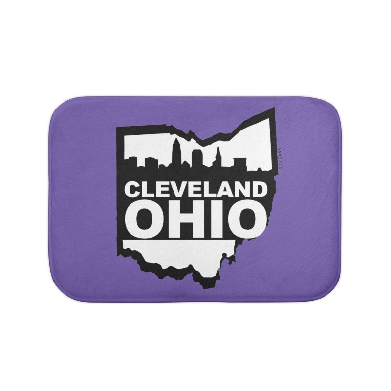 Cleveland Ohio Skyline Home Bath Mat by Rick Sans' Artist Shop