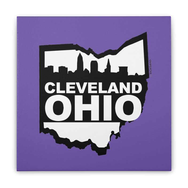 Cleveland Ohio Skyline Home Stretched Canvas by Ricksans's Artist Shop
