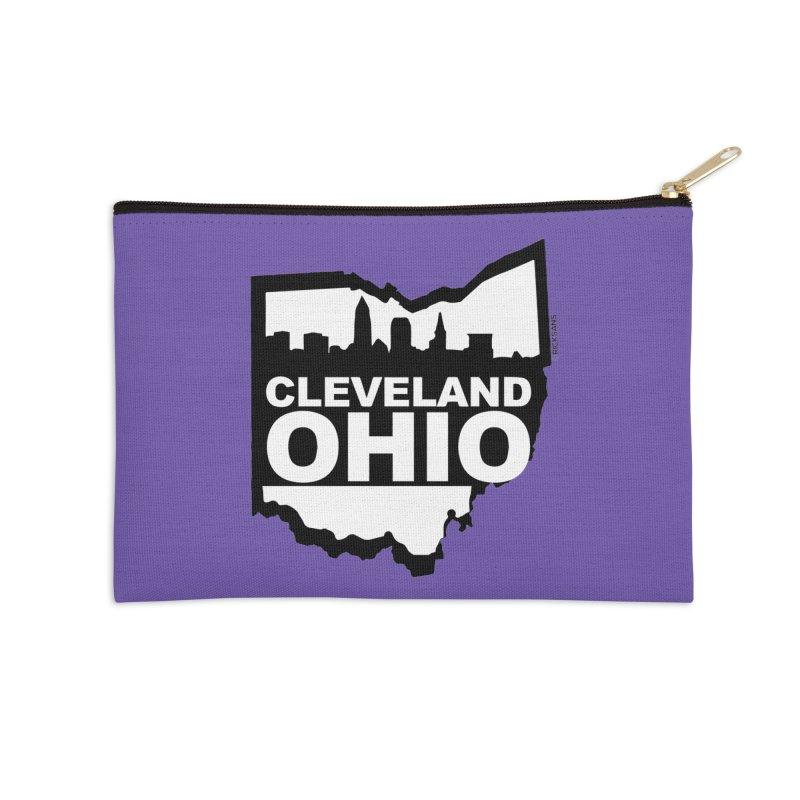 Cleveland Ohio Skyline Accessories Zip Pouch by Ricksans's Artist Shop