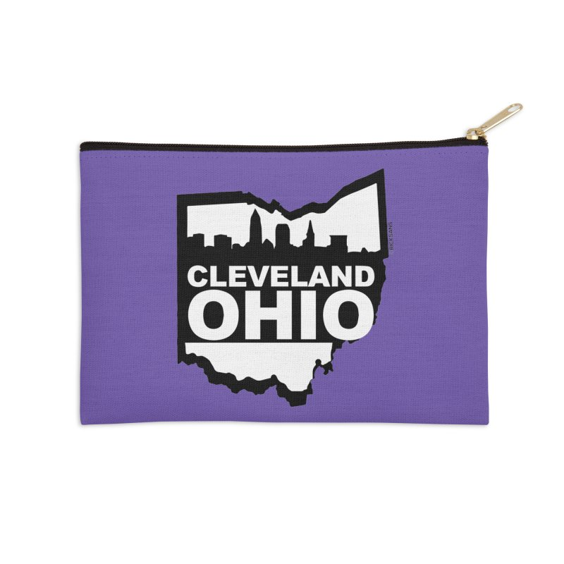 Cleveland Ohio Skyline Accessories Zip Pouch by Rick Sans' Artist Shop