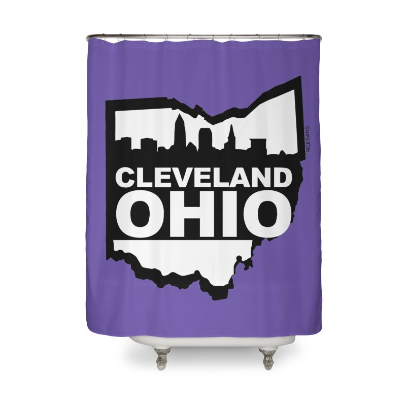 Cleveland Ohio Skyline Home Shower Curtain by Rick Sans' Artist Shop
