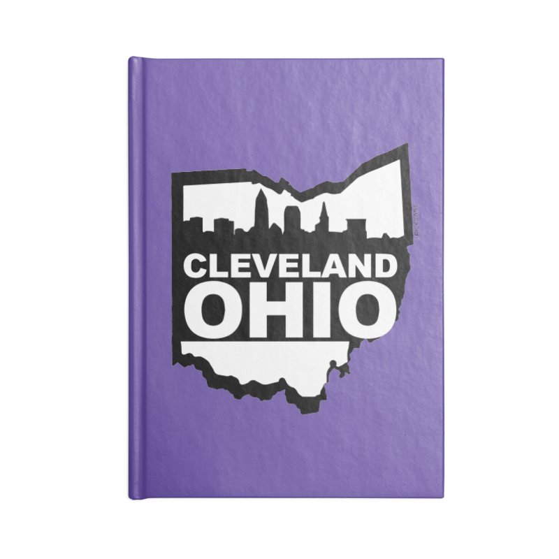 Cleveland Ohio Skyline Accessories Blank Journal Notebook by Rick Sans' Artist Shop