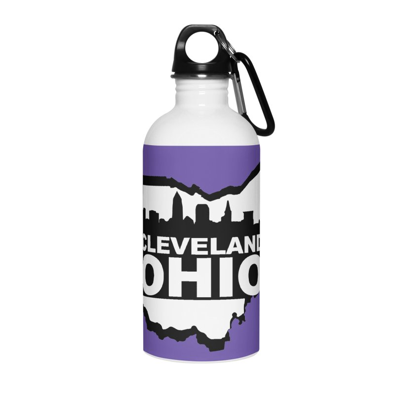 Cleveland Ohio Skyline Accessories Water Bottle by Rick Sans' Artist Shop