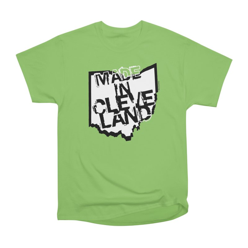 Made In Cleveland Men's Heavyweight T-Shirt by Rick Sans' Artist Shop