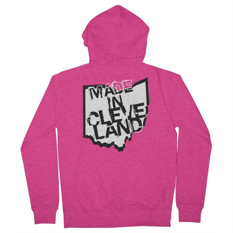 Made In Cleveland Women's French Terry Zip-Up Hoody by Rick Sans' Artist Shop