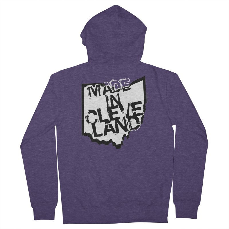 Made In Cleveland Men's French Terry Zip-Up Hoody by Ricksans's Artist Shop