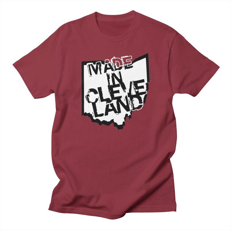 Made In Cleveland Men's Regular T-Shirt by Rick Sans' Artist Shop