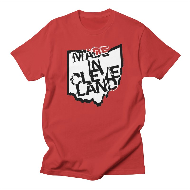 Made In Cleveland Men's T-Shirt by Ricksans's Artist Shop