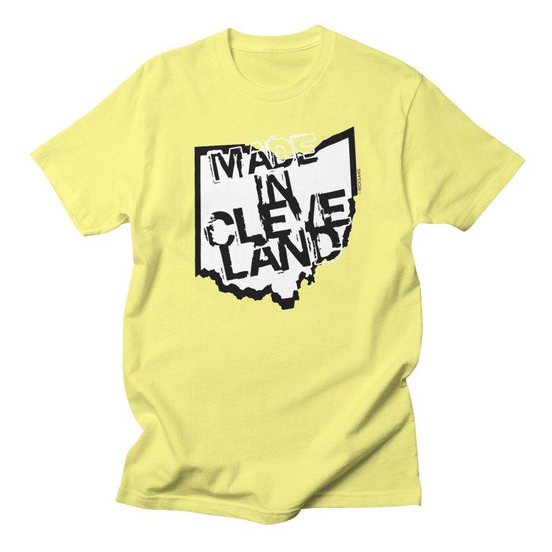 Made In Cleveland Men's T-Shirt by Ricksans's Artist Shop