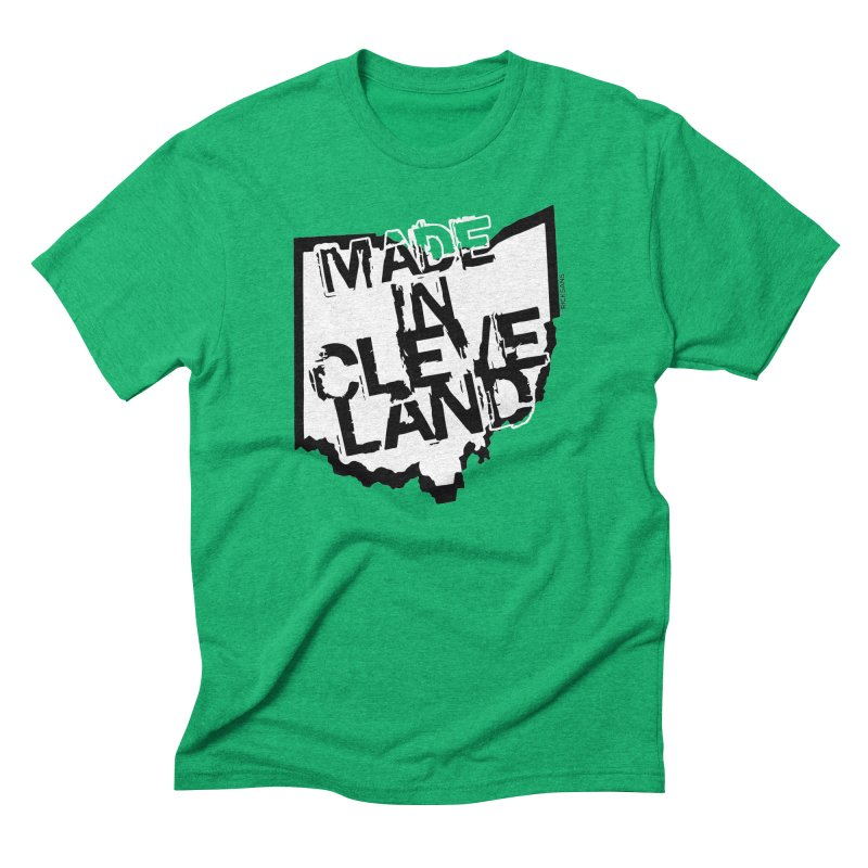 Made In Cleveland Men's Triblend T-Shirt by Rick Sans' Artist Shop