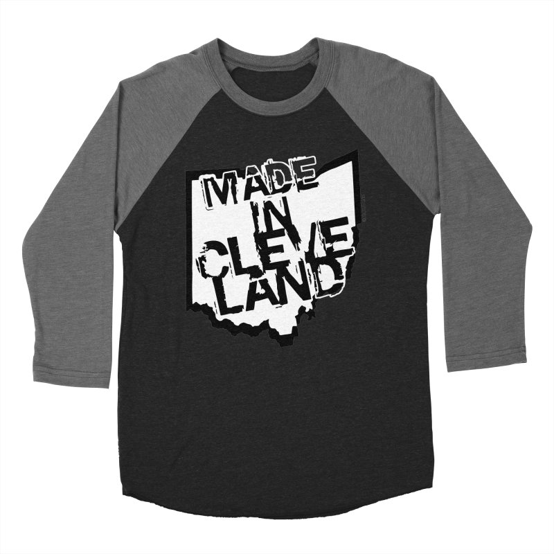 Made In Cleveland Women's Baseball Triblend Longsleeve T-Shirt by Rick Sans' Artist Shop