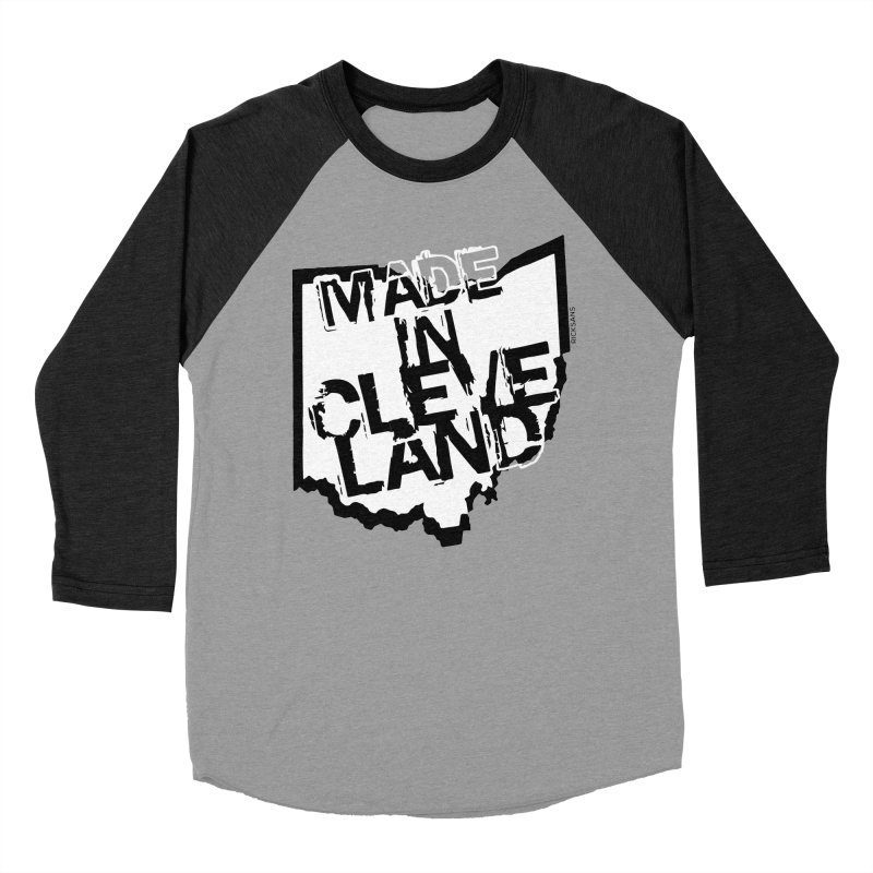 Made In Cleveland Men's Baseball Triblend Longsleeve T-Shirt by Rick Sans' Artist Shop