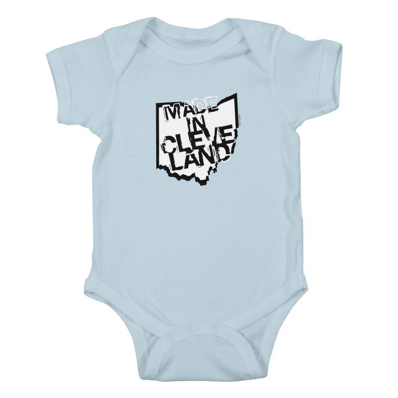 Made In Cleveland Kids Baby Bodysuit by Ricksans's Artist Shop