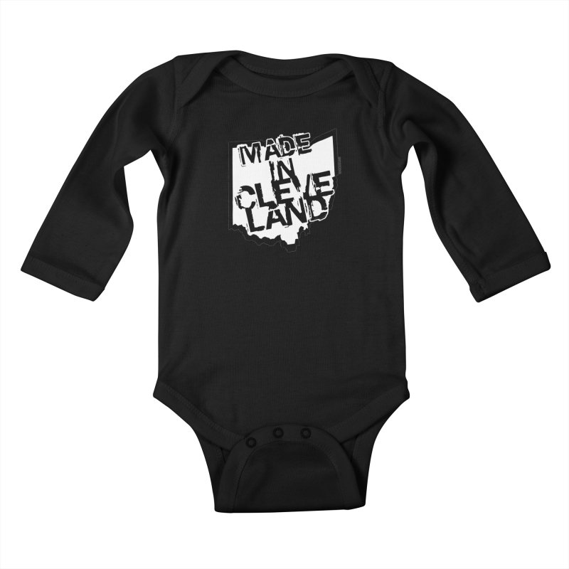 Made In Cleveland Kids Baby Longsleeve Bodysuit by Ricksans's Artist Shop