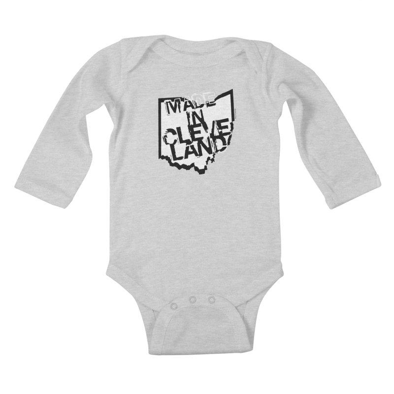 Made In Cleveland Kids Baby Longsleeve Bodysuit by Rick Sans' Artist Shop