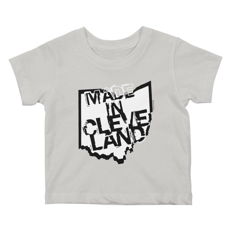 Made In Cleveland Kids Baby T-Shirt by Ricksans's Artist Shop
