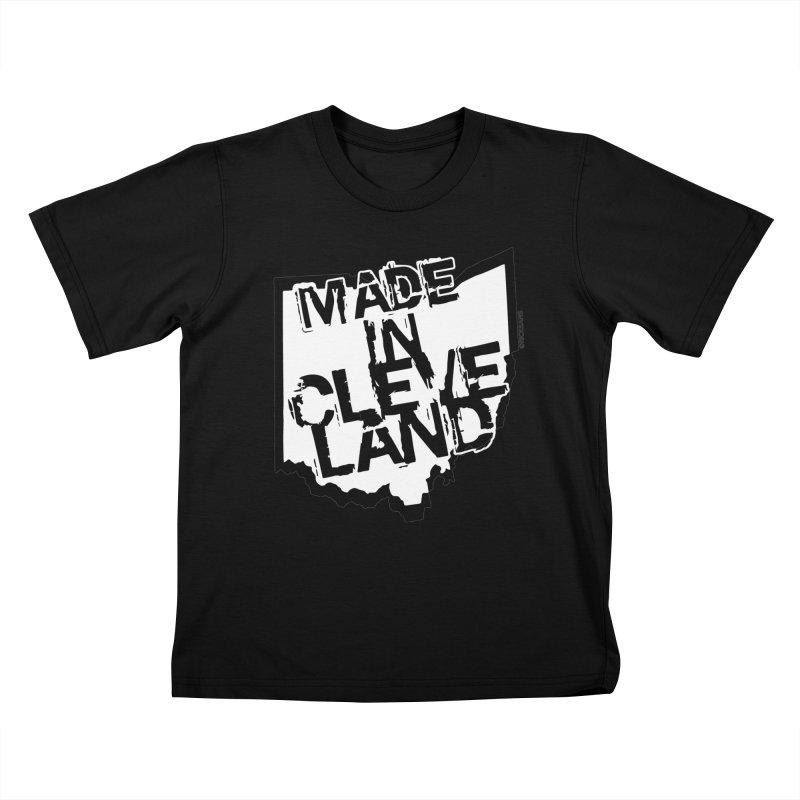 Made In Cleveland Kids T-Shirt by Ricksans's Artist Shop