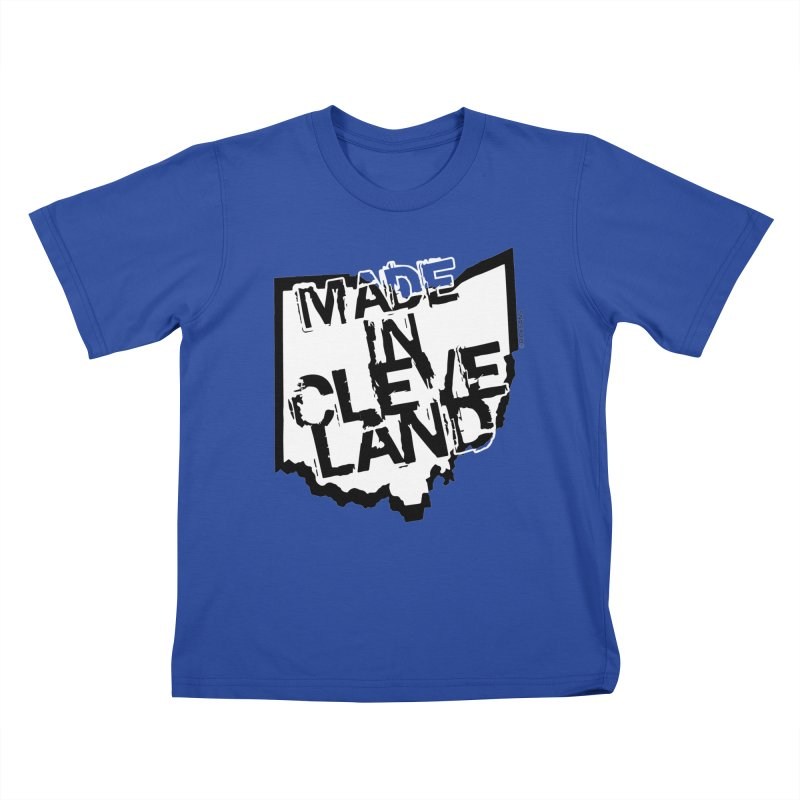Made In Cleveland Kids T-Shirt by Rick Sans' Artist Shop