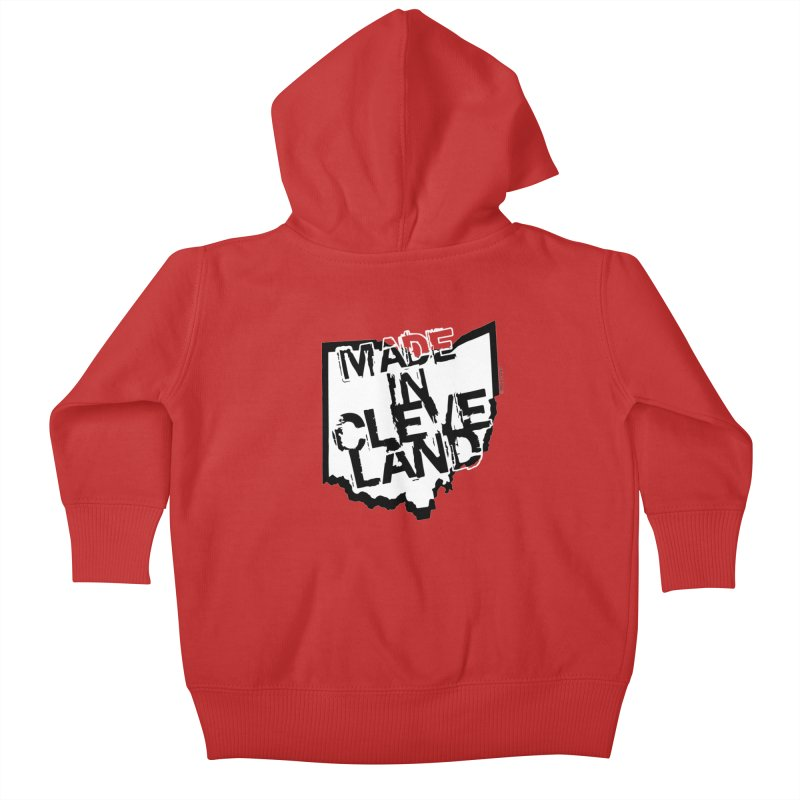 Made In Cleveland Kids Baby Zip-Up Hoody by Rick Sans' Artist Shop