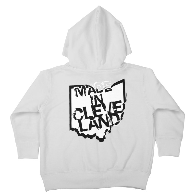Made In Cleveland Kids Toddler Zip-Up Hoody by Rick Sans' Artist Shop