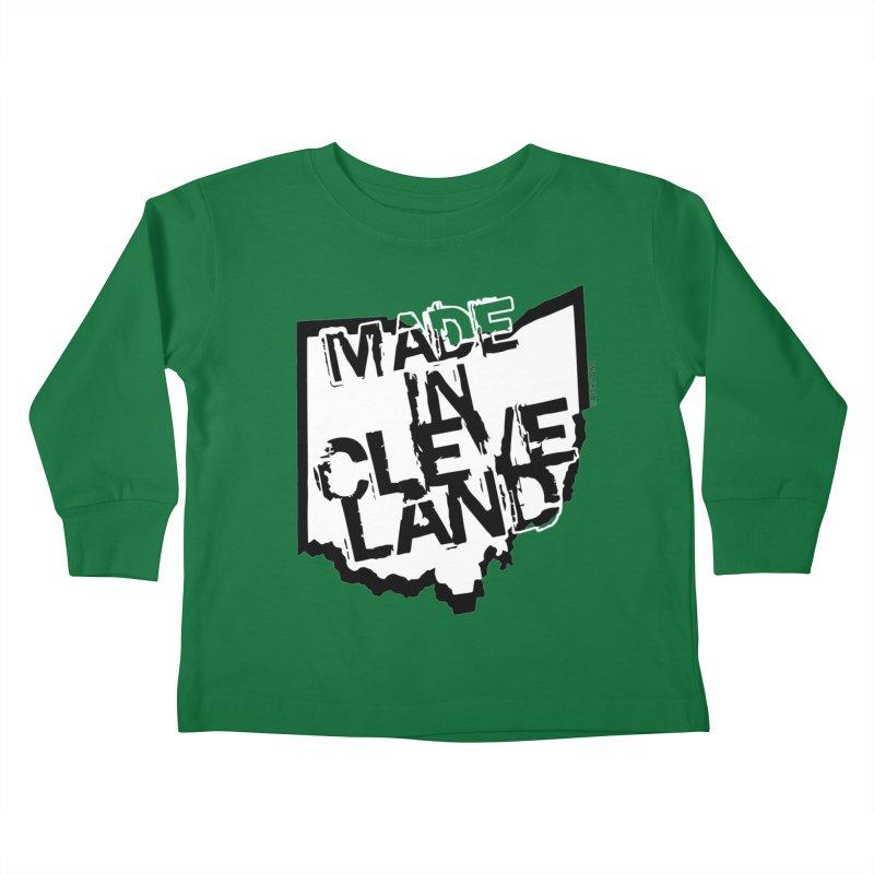 Made In Cleveland Kids Toddler Longsleeve T-Shirt by Ricksans's Artist Shop