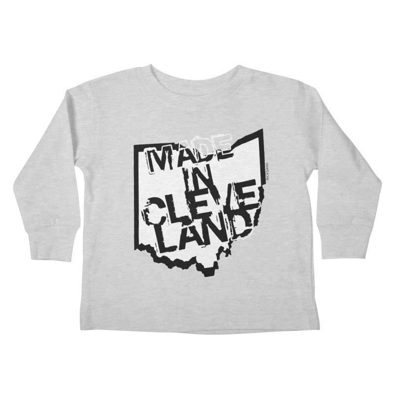 Made In Cleveland Kids Toddler Longsleeve T-Shirt by Rick Sans' Artist Shop