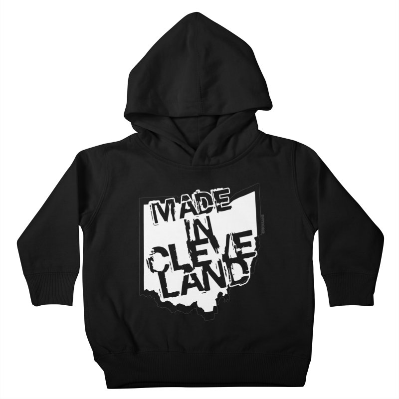 Made In Cleveland Kids Toddler Pullover Hoody by Rick Sans' Artist Shop