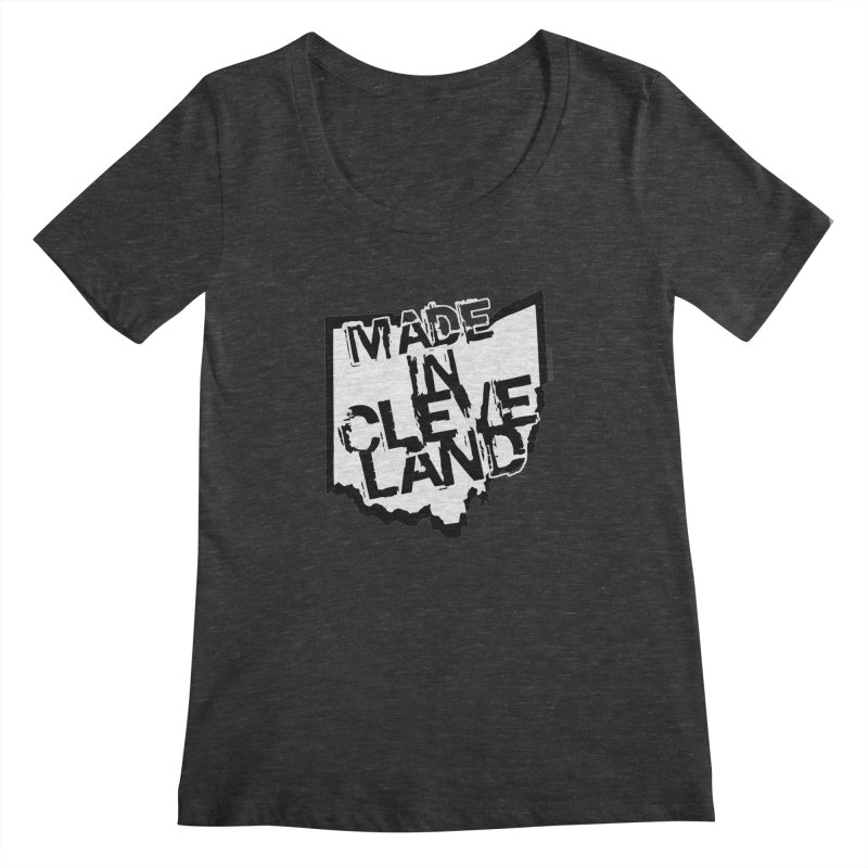 Made In Cleveland Women's Scoopneck by Ricksans's Artist Shop