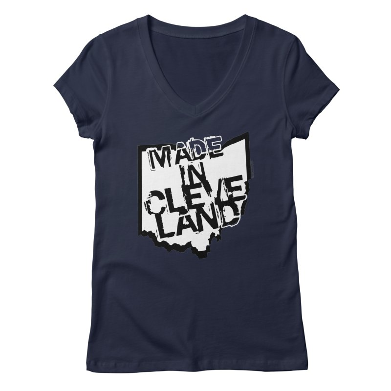 Made In Cleveland Women's V-Neck by Ricksans's Artist Shop