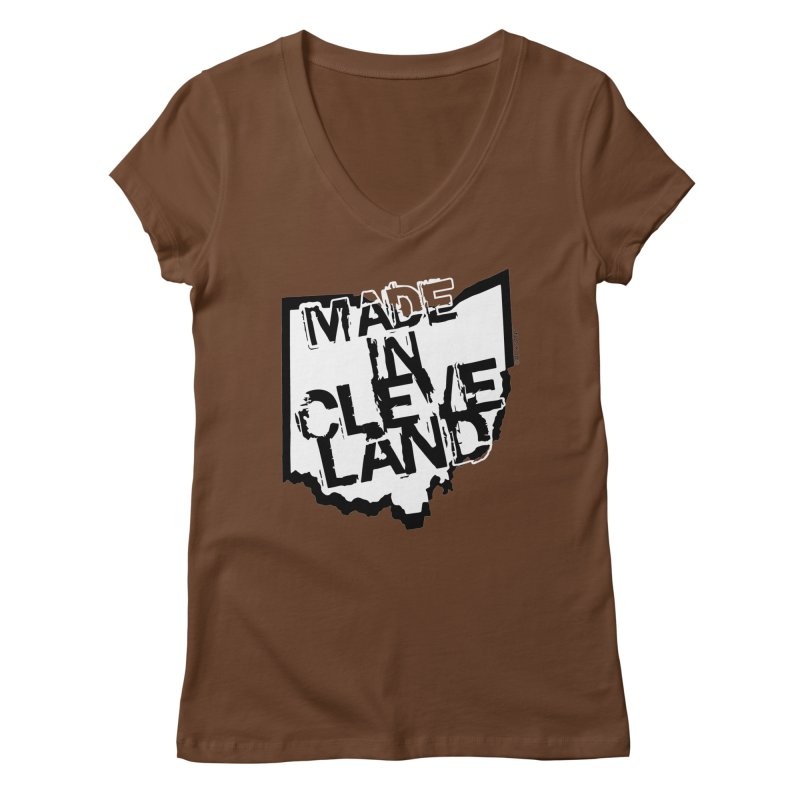 Made In Cleveland Women's V-Neck by Ricksans's Artist Shop