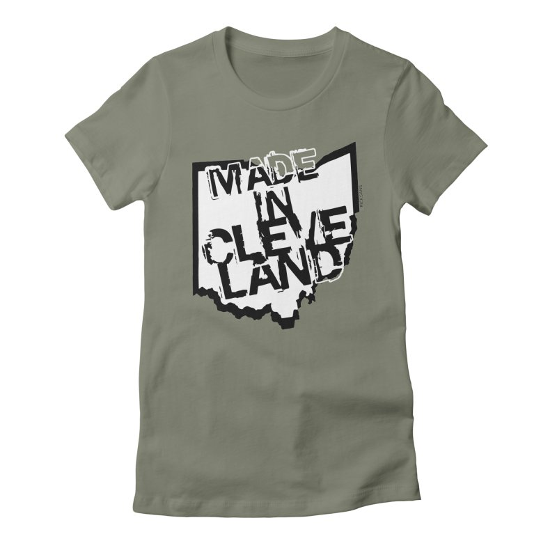 Made In Cleveland Women's Fitted T-Shirt by Ricksans's Artist Shop