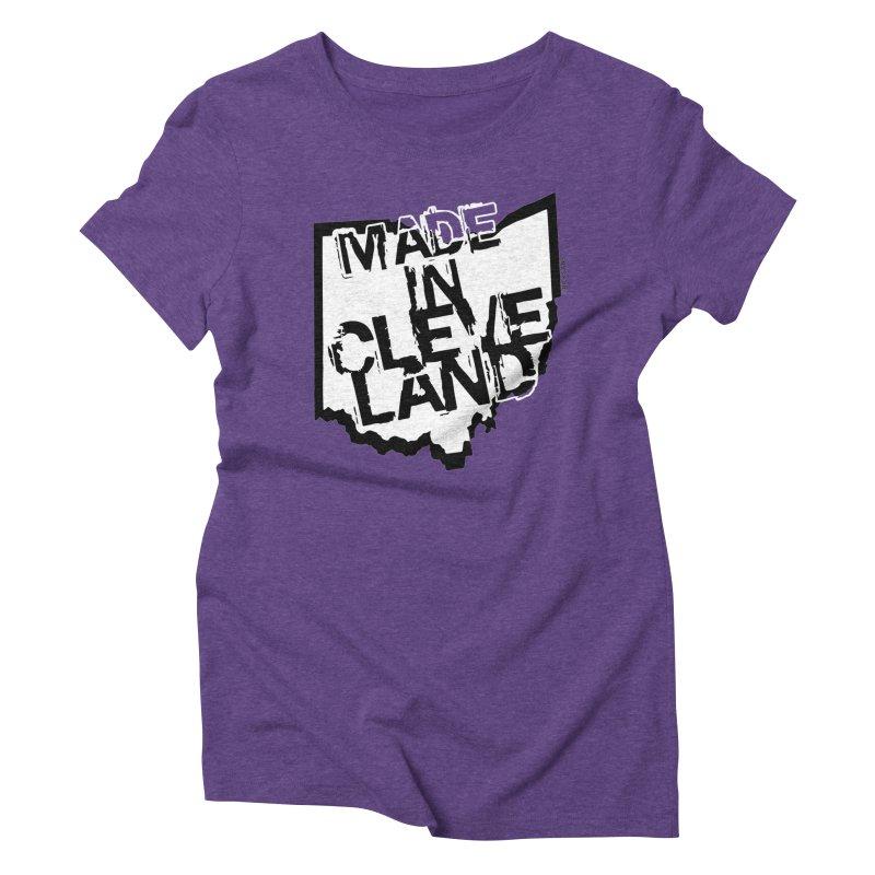 Made In Cleveland Women's Triblend T-Shirt by Ricksans's Artist Shop