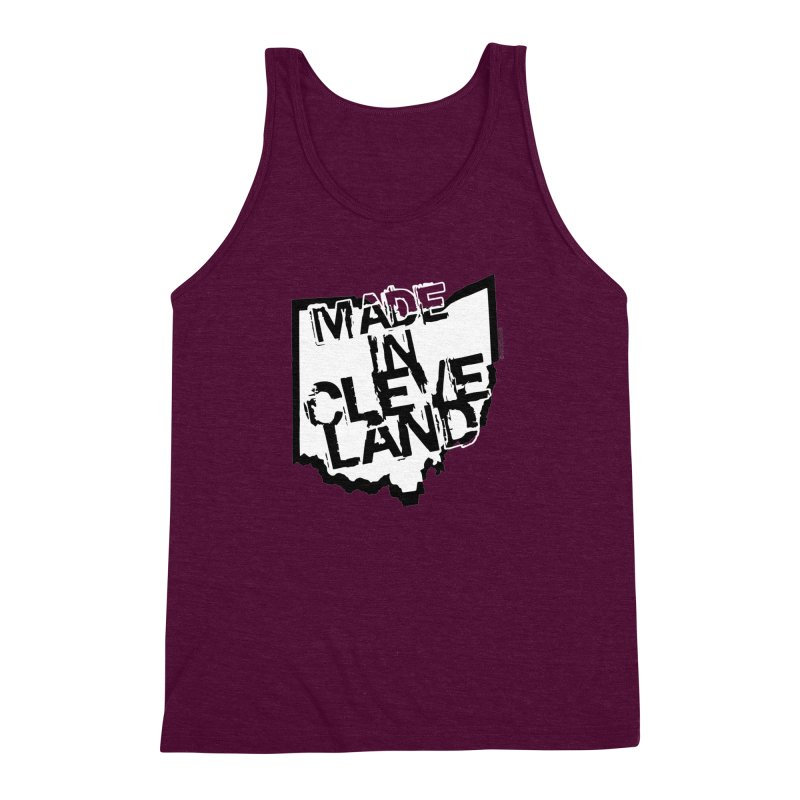 Made In Cleveland Men's Triblend Tank by Rick Sans' Artist Shop