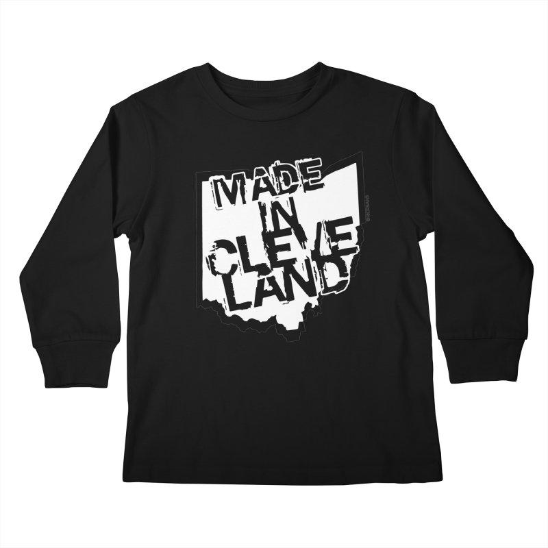 Made In Cleveland Kids Longsleeve T-Shirt by Ricksans's Artist Shop