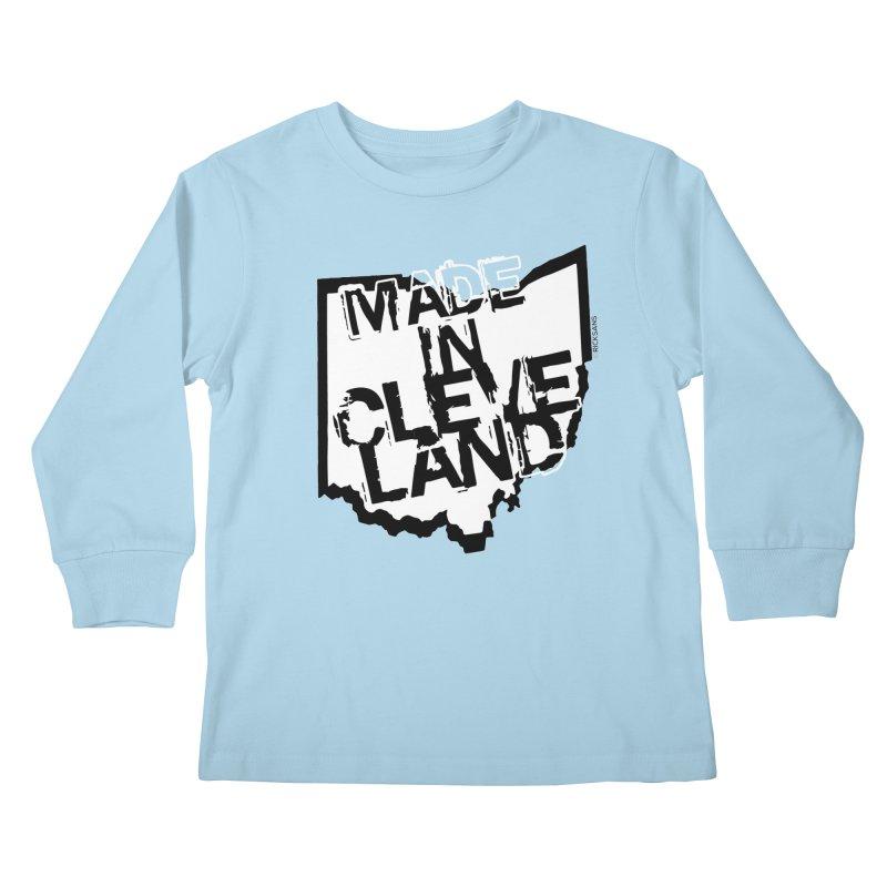 Made In Cleveland Kids Longsleeve T-Shirt by Rick Sans' Artist Shop