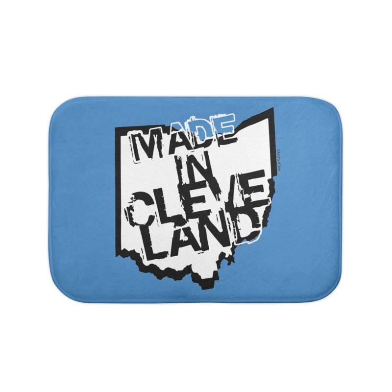 Made In Cleveland Home Bath Mat by Rick Sans' Artist Shop