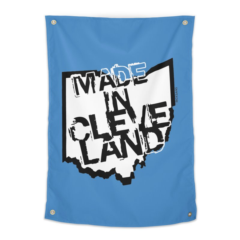 Made In Cleveland Home Tapestry by Rick Sans' Artist Shop