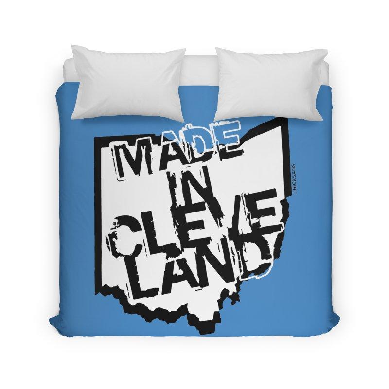 Made In Cleveland Home Duvet by Rick Sans' Artist Shop