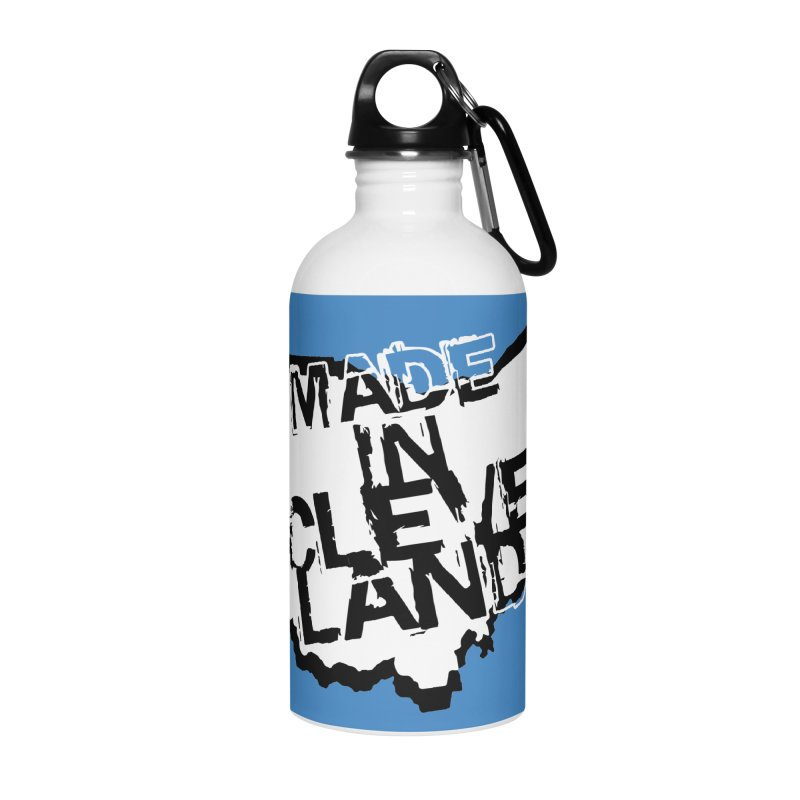Made In Cleveland Accessories Water Bottle by Ricksans's Artist Shop