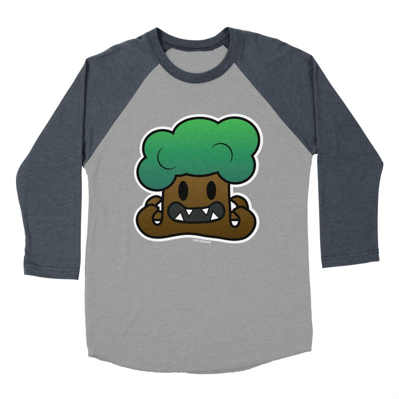 Jubokko Tree Monster by Rick Sans Men's Baseball Triblend Longsleeve T-Shirt by Rick Sans' Artist Shop