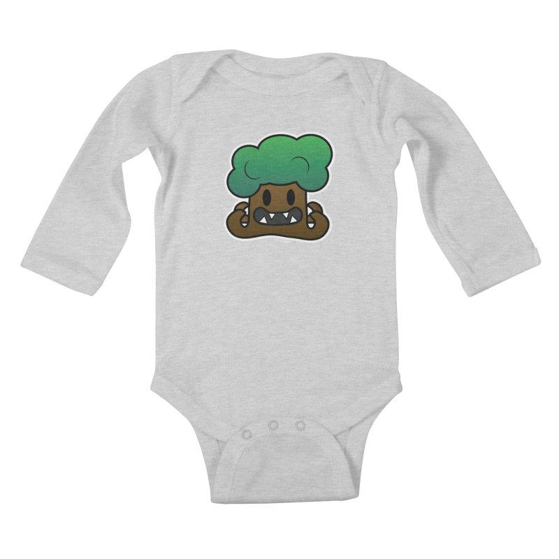 Jubokko Tree Monster by Rick Sans Kids Baby Longsleeve Bodysuit by Ricksans's Artist Shop