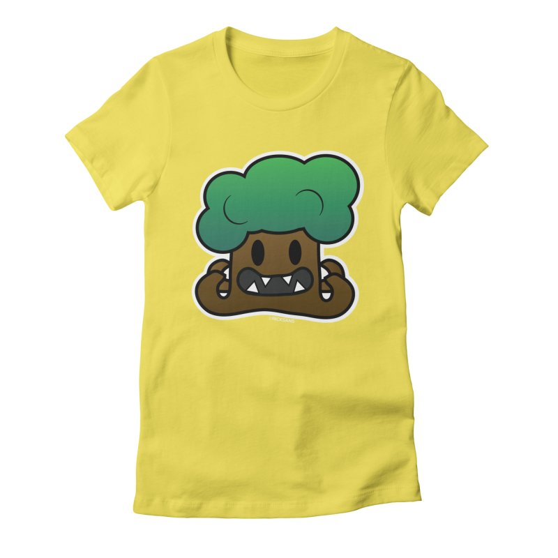 Jubokko Tree Monster by Rick Sans Women's Fitted T-Shirt by Rick Sans' Artist Shop